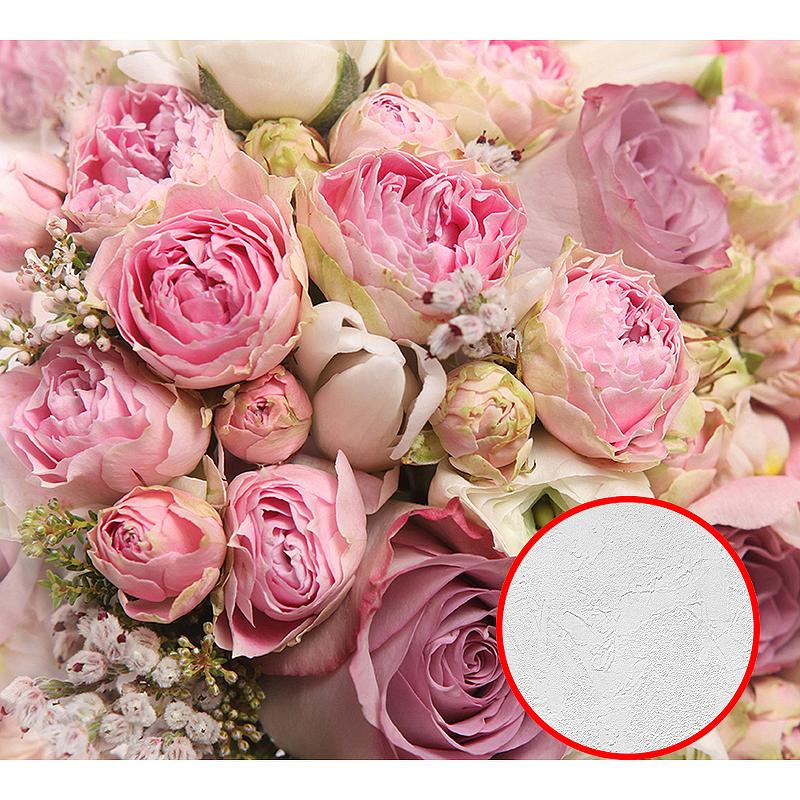 Фотообои Divino C-145 Фактура живопись Винил на флизелине (3*2,7) Розовый, Цветы