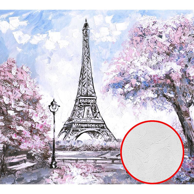 Фотообои Divino L-071 Фактура живопись Винил на флизелине (3*2,7) Голубой/Розовый, Пейзаж