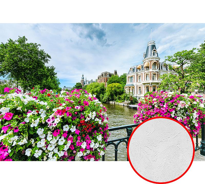 Фотообои Divino D-071 Фактура живопись Винил на флизелине (4*2,7) Розовый/Зеленый, Пейзаж