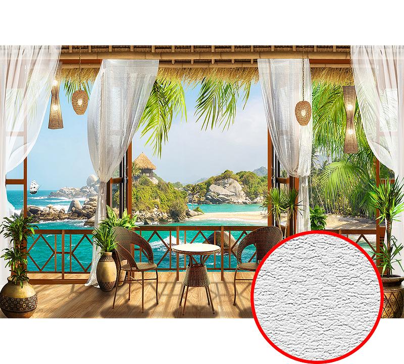 Фотообои Divino H-020 Фактура песок Винил на флизелине (4*2,7) Разноцветный, Пейзаж