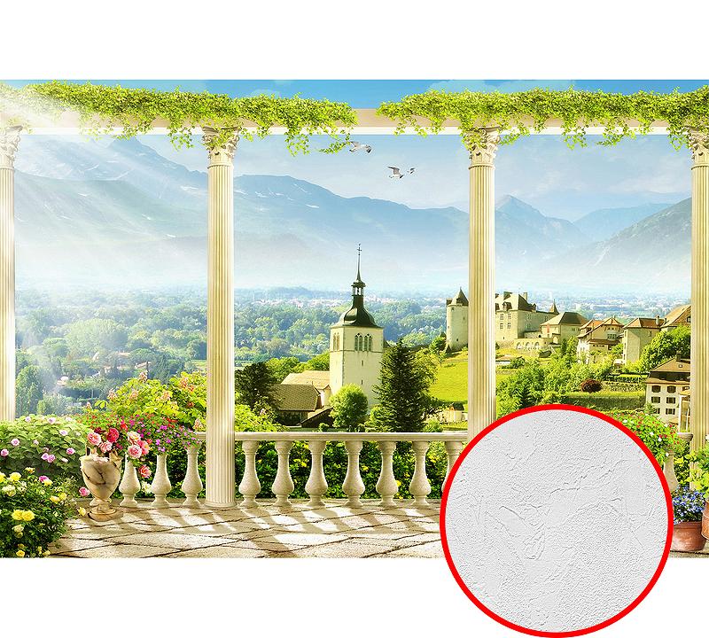 Фотообои Divino H-018 Фактура живопись Винил на флизелине (4*2,7) Разноцветный, Пейзаж