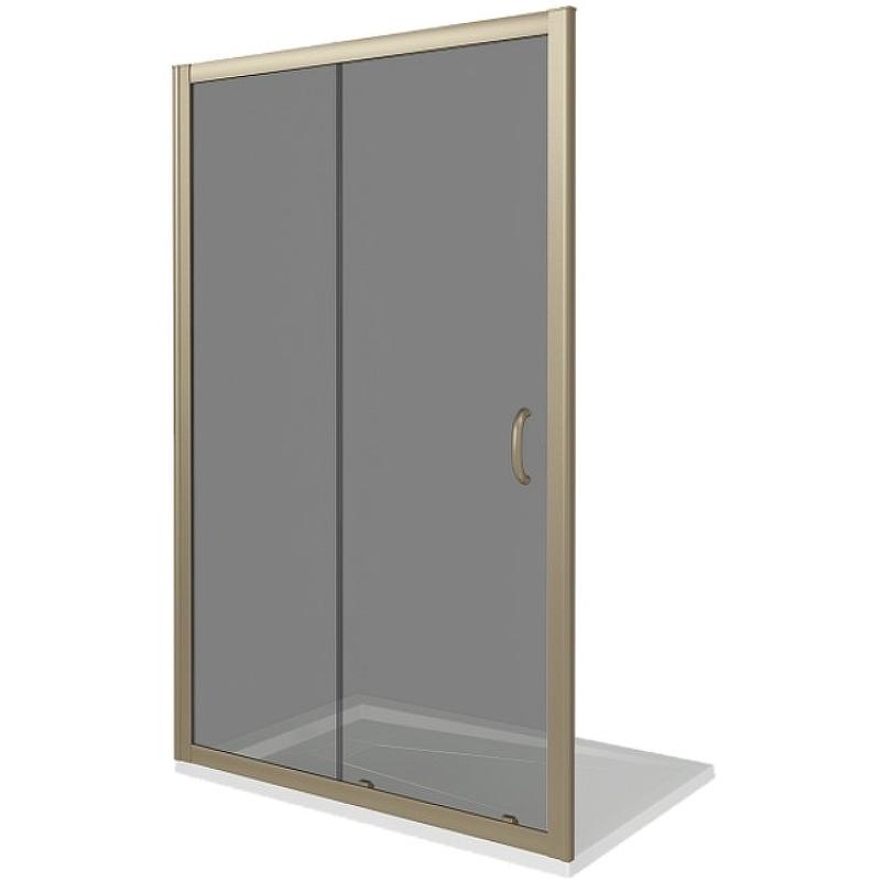 Душевая дверь Good Door Jazze 130 WTW-130-C-G профиль Золото стекло прозрачное