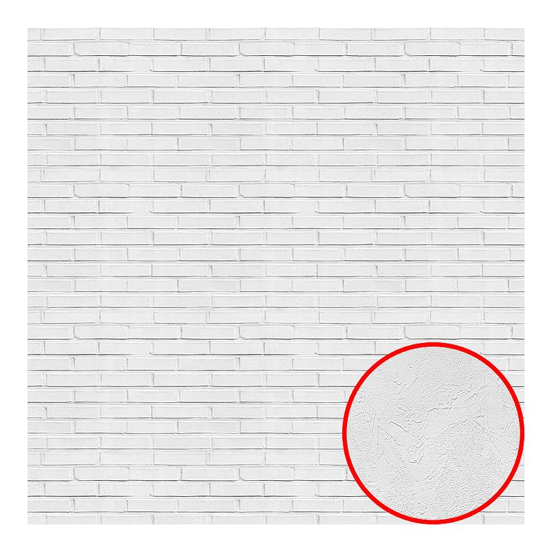Фотообои Divino L-074 Фактура живопись Винил на флизелине (2*2,7) Белый, Кирпич