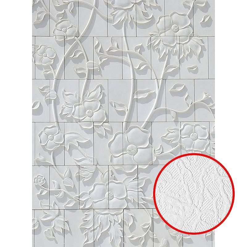 Фотообои Divino C-197 Фактура фреска Винил на флизелине (2*2,7) Белый, Цветы