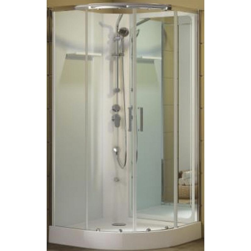 Душевая дверь для кабины Aquanet Passion R 2.0 №1/4 263871 профиль Серебро стекло прозрачное