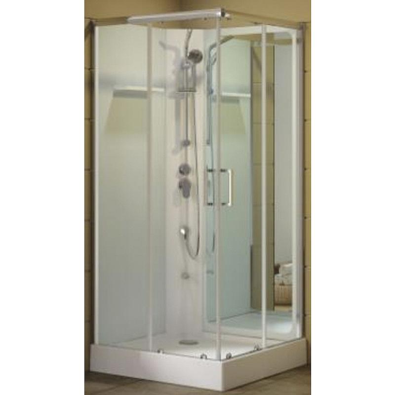 Душевая дверь для кабины Aquanet Passion S 2.0 №1/4 263875 профиль Серебро стекло прозрачное