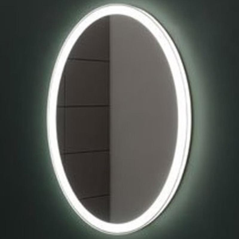 Зеркало Aquanet Комо 70 249358 с подсветкой Белое матовое с сенсорным выключателем