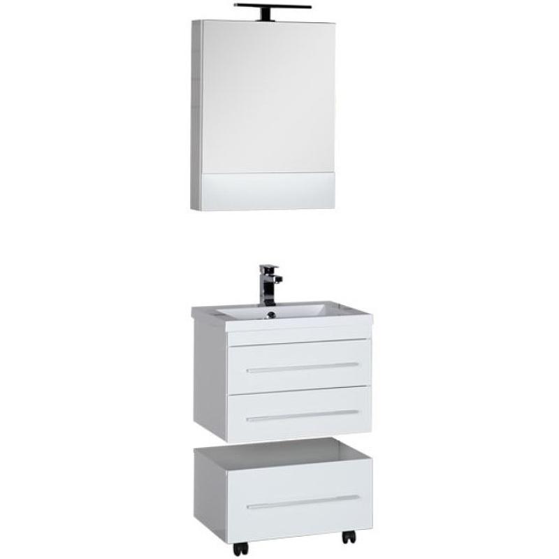 Комплект мебели для ванной Aquanet Нота 58 165376 Белый