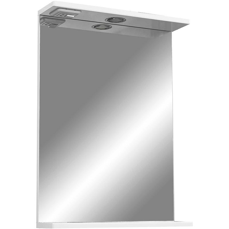 зеркало шкаф stella polar винчи 50 с подсветкой левый белый sp 00000033 Зеркало Stella Polar Концепт Ильза 50/С SP-00000220 с подсветкой Белое