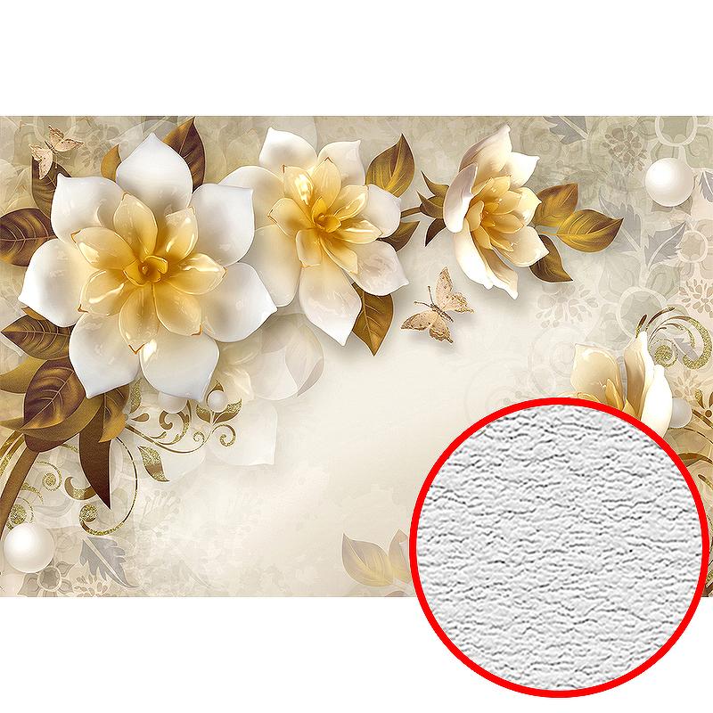 Фотообои Divino T-005 Фактура песок Винил на флизелине (4*2,7) Бежевый, Цветы