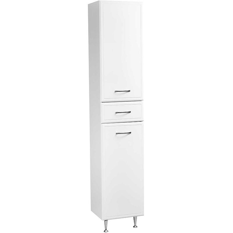 Шкаф пенал Stella Polar Концепт 36 SP-00000146 с бельевой корзиной Белый