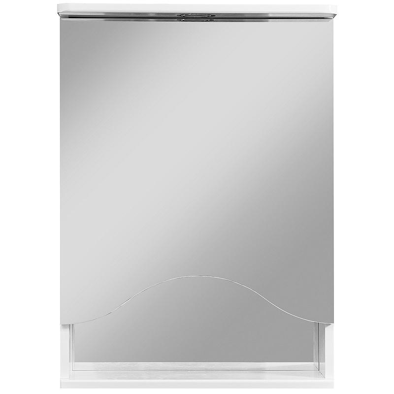 зеркало шкаф stella polar винчи 50 с подсветкой левый белый sp 00000033 Зеркальный шкаф Stella Polar Волна Лиана 50 SP-00000036 с подсветкой Белый