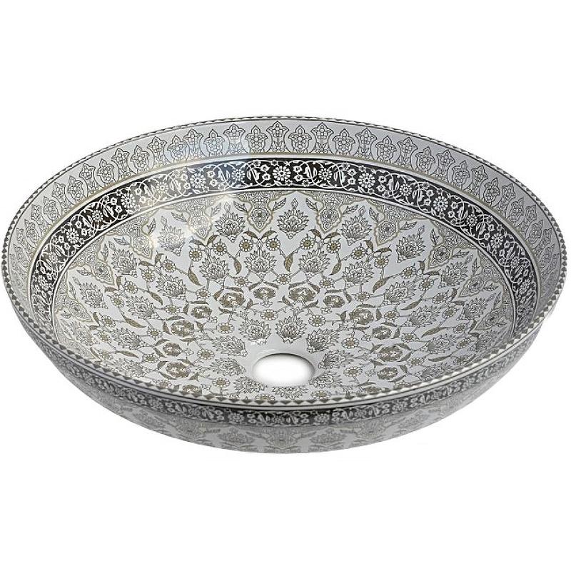 Раковина-чаша Bronze de Luxe Марракеш 40 1008G Белый глянец с декором раковина bronze de luxe 1616
