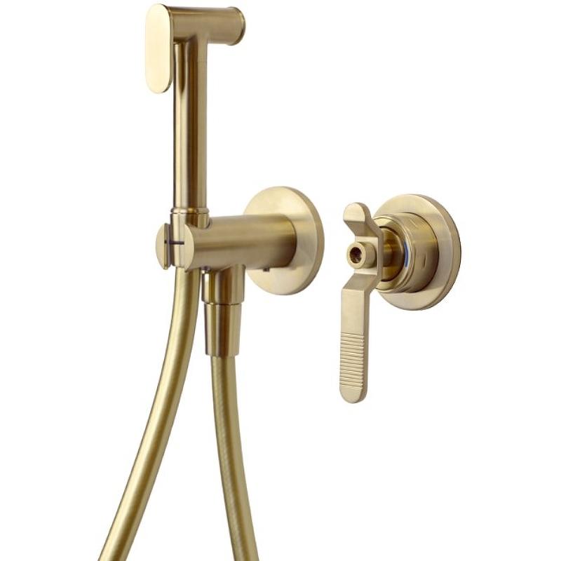 Гигиенический душ со смесителем Bronze de Luxe 1760'S Loft 3253CG Золотой матовый
