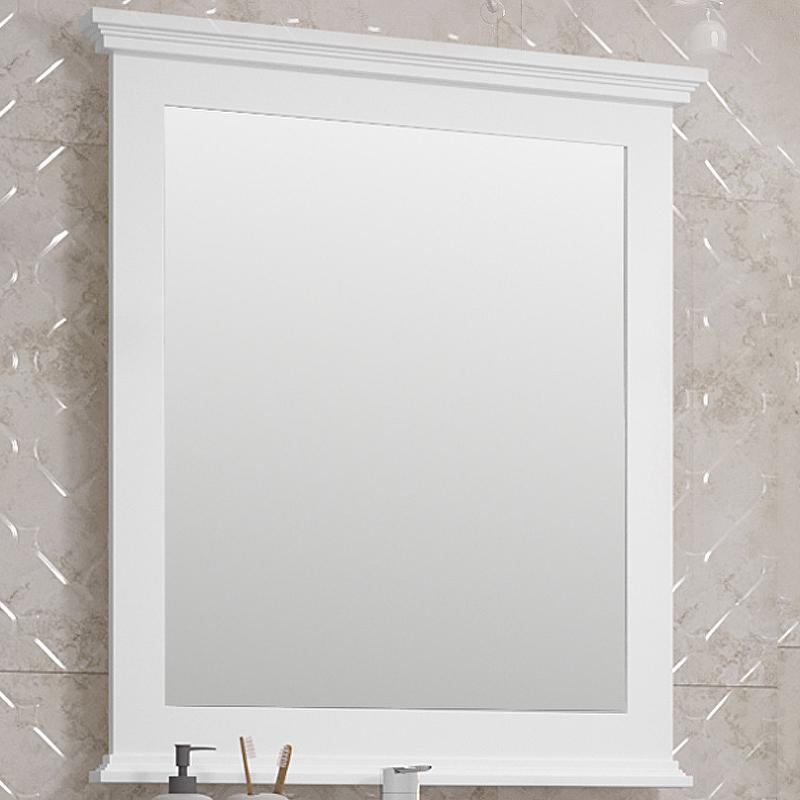 Фото - Зеркало Opadiris Палермо 80 00-00002351 Белое матовое зеркало 75х88 см светлый орех opadiris палермо z0000008552