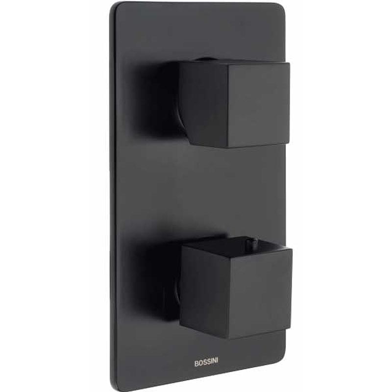 Смеситель для душа Bossini Cube Z00061.073 с термостатом Черный матовый