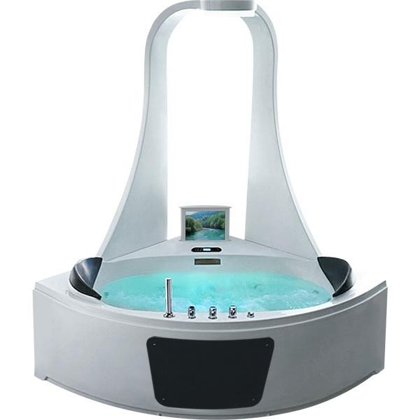Акриловая ванна Gemy G9069 O 151х151 с гидромассажем акриловая ванна gemy 151x151 с гидромассажем g9069 k