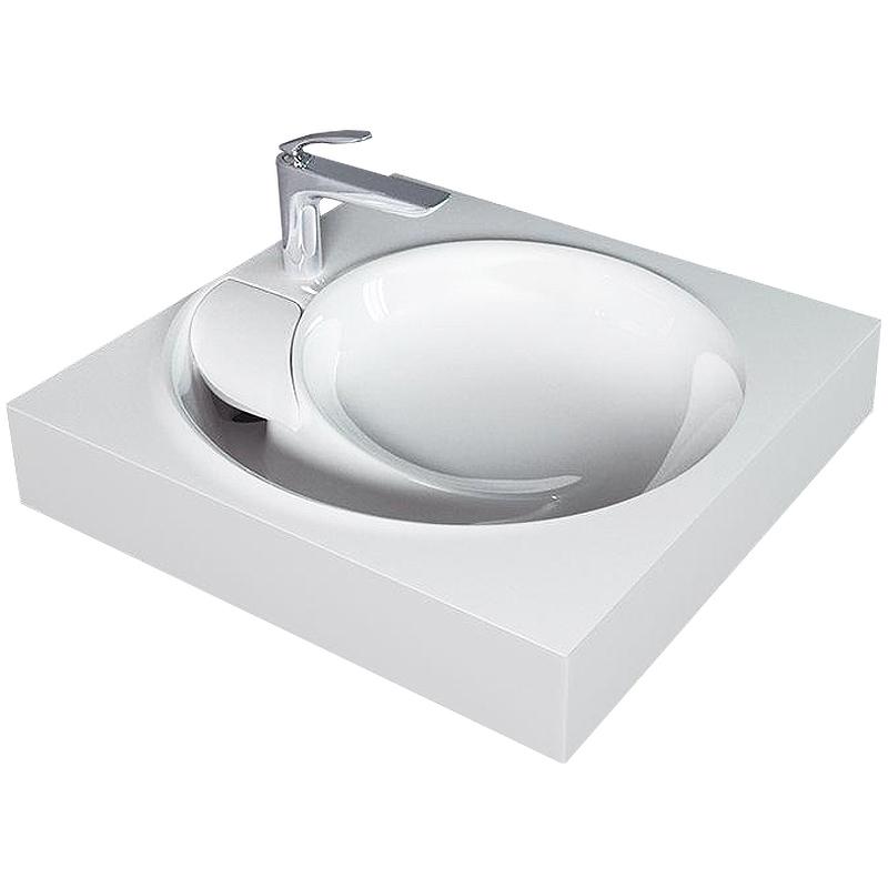 раковина kirovit престиж на стиральную машину 60 см Раковина Jorno QOPP 60 4627173210140 на стиральную машину Белая