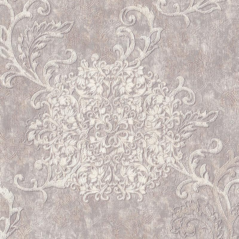 Обои Euro Decor Cosmea 7115-11 Винил на флизелине (1,06*10,05) Серый/Бежевый, Вензель