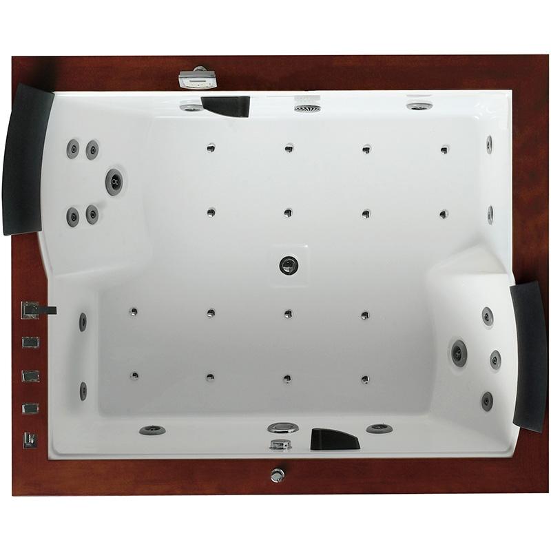 Акриловая ванна Gemy G9052-II O 186х151 R с гидромассажем фото