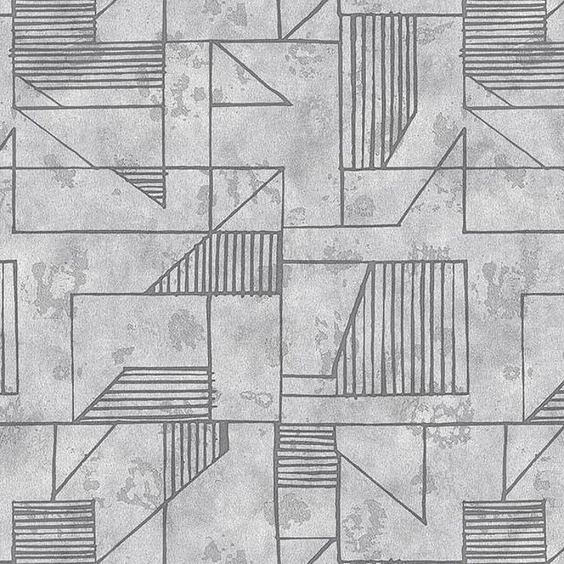 Обои Yasham Han 2 20534-3 Винил на флизелине (1*10,05) Серый, Геометрия