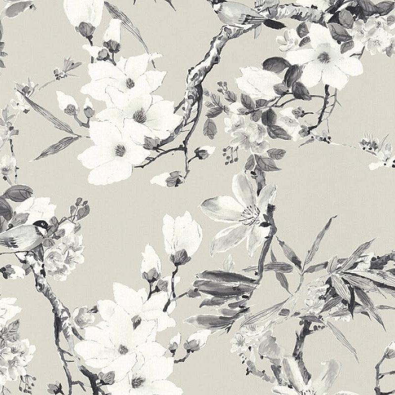 Обои Livingwalls Michalsky 3 36498-3 Винил на флизелине (0,53*10,05) Серый, Цветы ������������������ ���������� 3 ��������������
