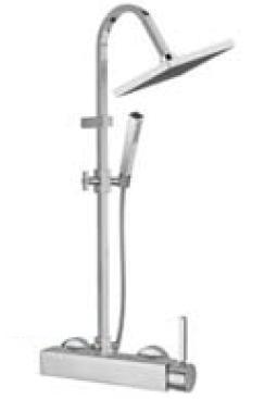 Stone 9336C CR (хром)Душевые системы<br>Душевой комплект со смесителем для ванны Bugnatese Stone 9336C CR цвет: хром.<br>