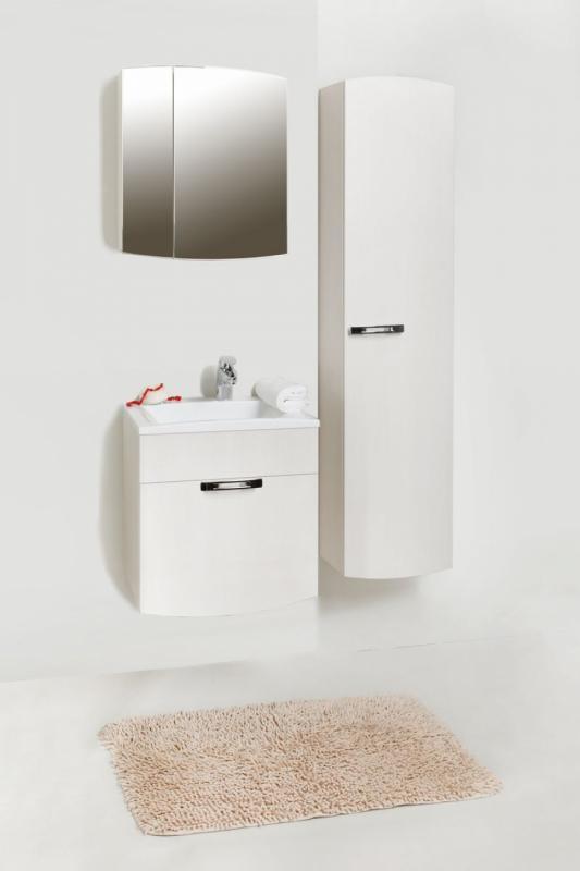 Inizio In 50 покрытие глянецМебель для ванной<br>Цена указана за тумбочку с раковиной (покрытие глянец). Тумба с раковиной представляет собой корпусную подвесную конструкцию с просторным выдвижным ящиком. Ящик снабжен австрийской шарикоподшипниковой системой выдвижения, которая обеспечивает плавное и бесшумное открывание и закрывание ящика. Раковина прямоугольной формы из прочного и долговечного искусственного камня.<br>Размеры: 500x400x540<br>
