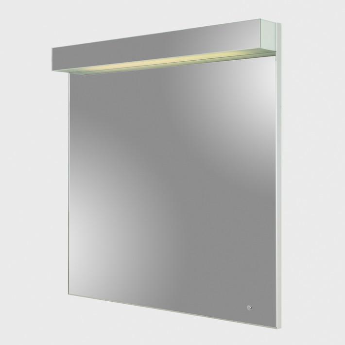 Next 80 60 смМебель для ванной<br>Зеркало с люминесцентным освещением Wenz Next с технологией Touch-Tronic позволяющей прикосновением включат/выключать подсветку зеркала. Возможны различные варианты рисунка на зеркале. Размер :60 х 9,5 x 80 см.<br>