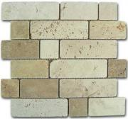 Mosaico travertino brick d-515 184996 30,5x30,6