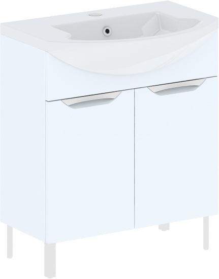 Cosmo New 75 на ножках (исполнение I) Бежевый глянецМебель для ванной<br>В цену входит тумба на ножках Gemelli Сosmo New укомплектованная раковиной Logic. Все комплектующие (зеркала, пеналы, шкаф) приобретаются отдельно.<br>