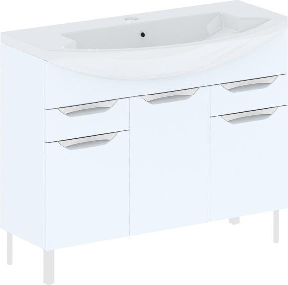Cosmo New 108 на ножках (исполнение I) Бежевый глянецМебель для ванной<br>В цену входит тумба напольная Gemelli Сosmo New укомплектованная раковиной Logic. Все комплектующие (зеркала, пеналы, шкаф) приобретаются отдельно.<br>