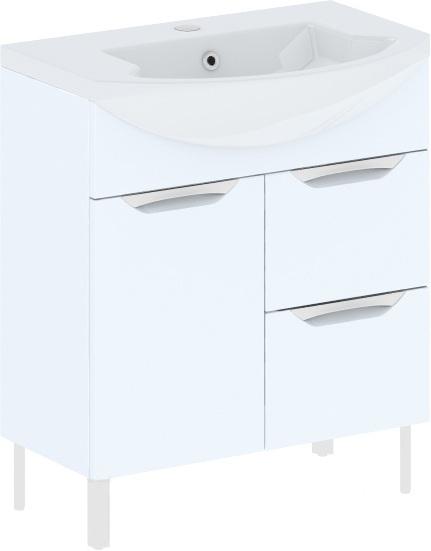 Cosmo New 75 на ножках (исполнение II) Белый глянецМебель для ванной<br>В цену входит тумба на ножках Gemelli Сosmo New укомплектованная раковиной Logic. Все комплектующие (зеркала, пеналы, шкаф) приобретаются отдельно.<br>