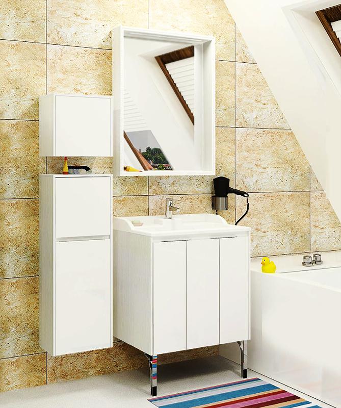 Фабиа 65 корицаМебель для ванной<br>Подвесная тумба под раковину Акватон Фабиа 65 1A159501FBAH0 с двумя навесами, одним внутренним ящиком за левым фасадом и одной полкой. В качестве ручки установлен изящный профиль, который позволяет открыть фасад без использования лицевой фурнитуры и обеспечивает дополнительную жесткость. Внутренняя отделка представляет собой декоративную текстурированную ДСП.<br>