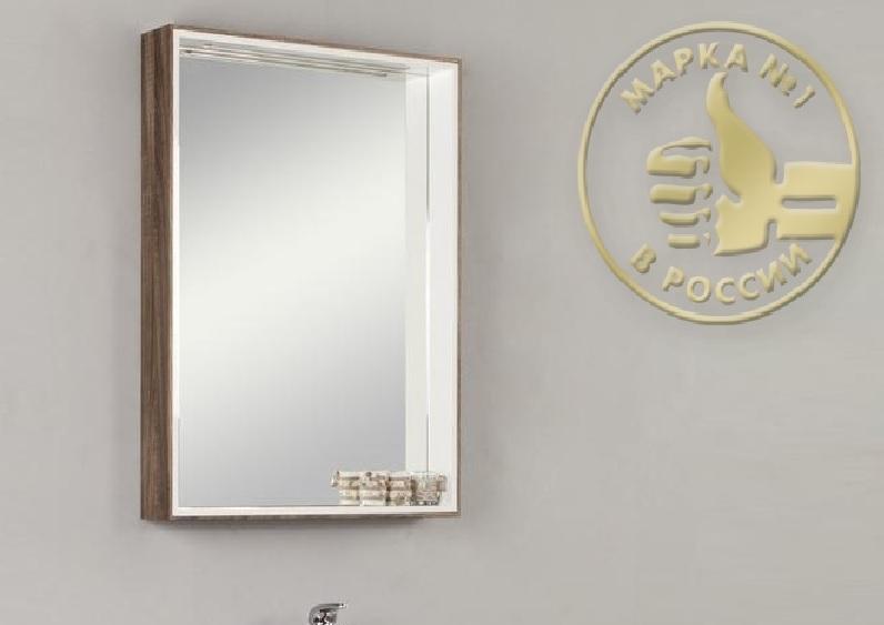 Фабиа 65 Белый/ясеньМебель для ванной<br>Акватон 1A159702FBAE0 Фабиа 65 подвесной зеркальный шкаф. Цвет белый/ясень.<br>