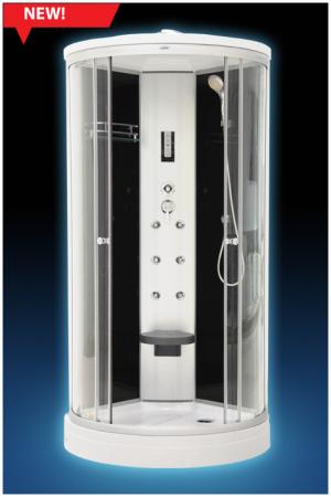 836 ЧернаяДушевые кабины<br>Luxus 836 душевая кабина. Комплектация: система сборки профиля Еasymade, верхний душ, ручной душ, верхнее освещение (белый свет), сенсорный пульт управления, сиденье откидное ABS-пластик, вентиляция, полочка для шампуня.<br>