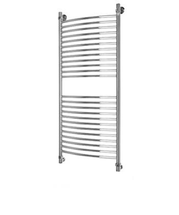 Elite 1200x500  ХромПолотенцесушители<br>Energy Elite 1200x500 водяной полотенцесушитель. <br>Межосевое расстояние: 1260x570x110 мм.<br>Вид: лесенка.<br>Вид перемычки: выпуклая.<br>Расчетная площадь ванной комнаты при норме 100Вт/кв.м: 8,5. <br>Теплоотдача (при t носителя +90гр.С), Вт: 850.<br>Подключение полотенцесушителя Energy Elite 1200 x 500 производится нижним горизонтальным способом.<br>