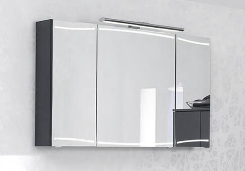 Cassca CS-SPS 05 1200 ммМебель для ванной<br>Pelipal Cassca CS-SPS 05 Comfort Зеркальный шкаф с подсветкой, 3 зеркальные дверцы, 6 стеклянных полок , розетка и выключатель. Цвет корпуса  антрацит высокоглянцевый.<br>