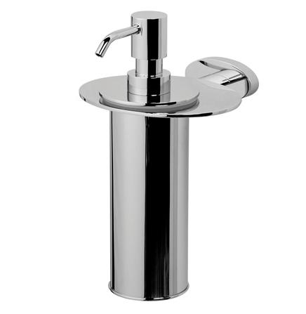 Awe A1536900 ХромАксессуары для ванной<br>Диспенсер для жидкого мыла AM PM Awe A1536900 с настенным держателем.<br>Зеркальная поверхность, отполированная до зеркального блеска.<br>Материал: металл.<br>
