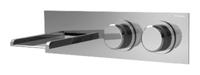 NOBA4465H1 INX (Матовый никель)Смесители<br>Смеситель для раковины CLOCK WORK NOBA4465H1 INX встраиваемый в стену, с изливом водопад 162 мм. Цвет: матовый никель.<br>