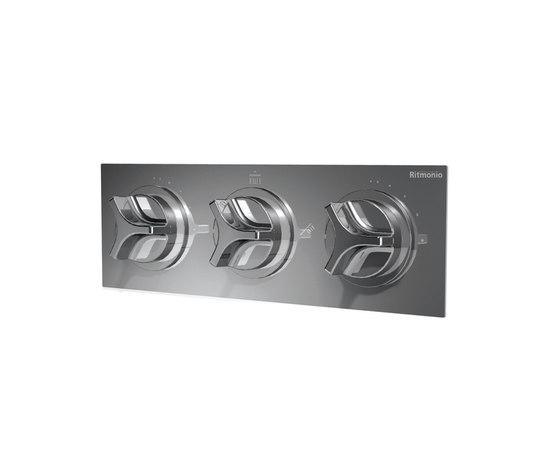 NOBA4050 INX (Матовый никель)Смесители<br>Смеситель для ванны/душа CLOCK WORK NOBA4050 INX встраиваемый в стену. Цвет: матовый никель.<br>