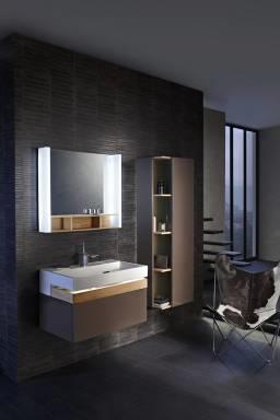 Terrace EB1185-274 ЧерныйМебель для ванной<br>Тумба под раковину Jacob DelafonTerrace EB1185-274. Цвет черный. 1 ящичек для аксессуаров из цельного дерева и 1 выдвижной ящик с механизмом  плавное закрывание .<br>