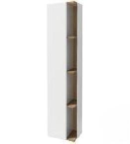 Terrace EB1179G-HU ПраваяМебель для ванной<br>Подвесная колонна Jacob Delafon EB1179D-HU Terrace 50 см, шарниры справа.  3 полочки из цельного дерева, стеклянные разделители, внешние и внутренние полочки.<br>