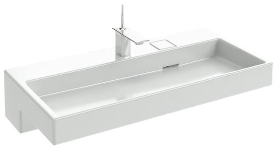 Terrace EXC112-00 С подсветкойРаковины<br>Раковина-столешница Jacob Delafon Terrace EXC9112-00,<br>100х49 см, на собственной<br>опоре. C подсветкой.<br>Отверстие для смесителя.<br>Устанавливается на мебель<br>EB1187.<br>