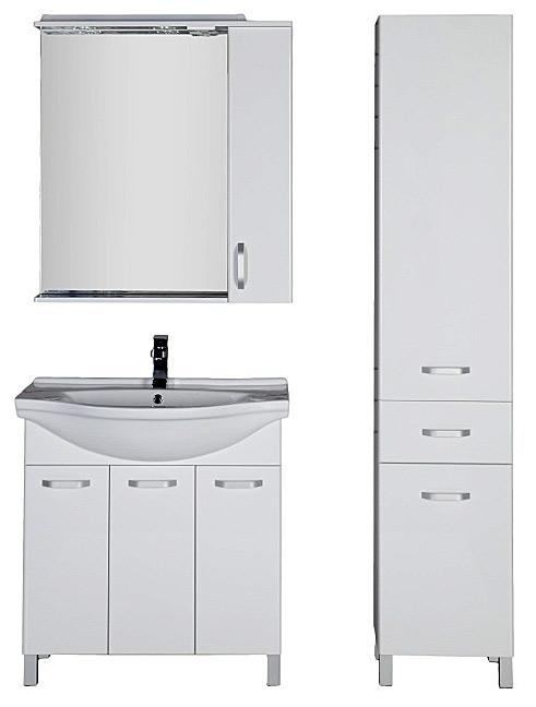 Глория 80 800 ммМебель для ванной<br>Тумба Aquanet Глория 171604. 3 двери. Цвет белый.<br>