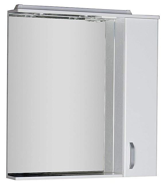 Глория 171594 800 ммМебель для ванной<br>Зеркало Aquanet Глория 171594 80 см. Зеркало с полочкой, розеткой  и  подсветкой.<br>