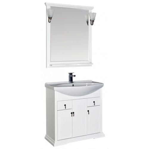 Лагуна 85  Белый матовыйМебель для ванной<br>Тумба под раковину Aquanet Лагуна 175300. Цвет белый матовый.<br>