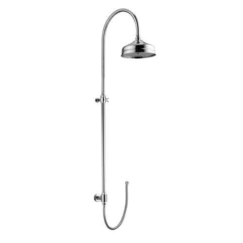 Programma Docce 4290 COДушевые гарнитуры<br>Душева колонка Gattoni Programma Docce 4290 с верхним душем &amp;#216;208 (Antikalk-System), под смеситель дл ванны/душа (низ), цвет: хром.<br>