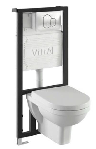Form 300 9812B003-7201 БелыйУнитазы<br>Vitra Form 300 9812B003-7201. Комплект: унитаз Form 300 с инсталляцией 711-5800 и панелью управления 711-1080.<br>