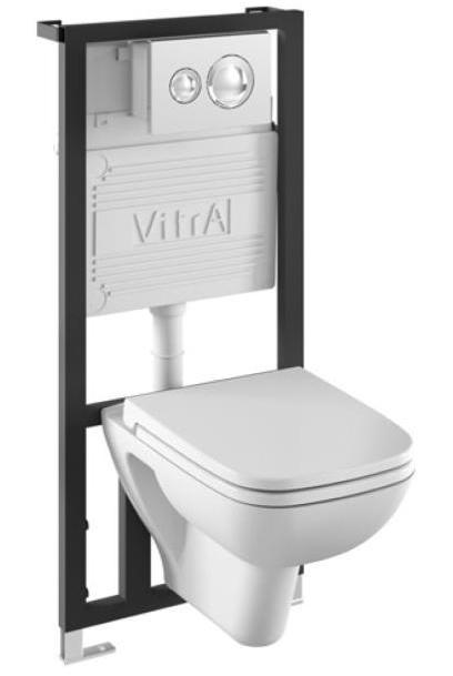 S 20 9004B003-7200 БелыйУнитазы<br>Vitra S 20 9004B003-7200. Комплект: подвесной унитаз S20 с сиденьем микролифт, инсталляцией 711-5800 и панелью управления 711-2080.<br>